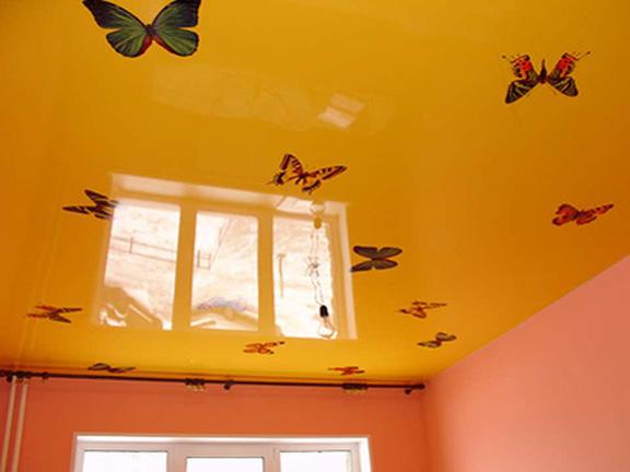 картинки на потолке, фотообои на потолок