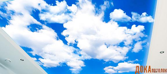 Хотите что-то интересное в дизайне? Натяжные потолки небо с облаками именно то, что Вам нужно!