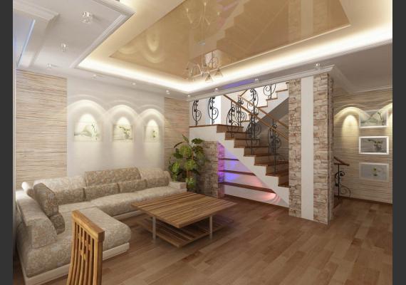 Натяжные потолки в частном доме или коттедже
